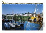 Fishing Boats At A Harbor, Roundstone Carry-all Pouch