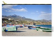 Fishing Boats On A Beach In Spain Carry-all Pouch