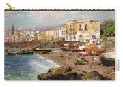 Fishing Boats On The Beach At Marinella Naples Carry-all Pouch