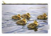 Five Goslings In The Water Carry-all Pouch