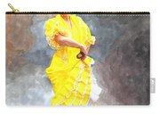 Flamenco Dancer In Yellow Carry-all Pouch