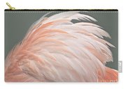 Flamingo Feather Details Carry-all Pouch