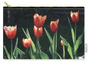 Flared Red Yellow Tulips Carry-all Pouch