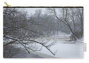 Flat River In Winter No.026 Carry-all Pouch