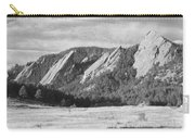 Flatirons Boulder Colorado Black And White Photo Carry-all Pouch