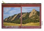 Flatirons Boulder Colorado Red Barn Picture Window Frame Photos  Carry-all Pouch