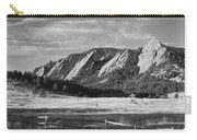 Flatirons From Chautauqua Park Bw Carry-all Pouch