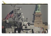 Fleet Week Vessels Pass By The Statue Carry-all Pouch