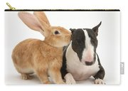 Flemish Giant Rabbit And Miniature Bull Carry-all Pouch