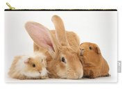 Flemish Giant Rabbit With Guinea Pigs Carry-all Pouch