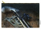 Flint Lock Pistol And Playing Cards Carry-all Pouch
