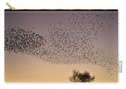Flock Of European Starlings Carry-all Pouch