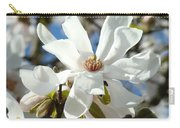 Floral Art Prints White Magnolia Flowers Carry-all Pouch