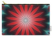 Floral Geometric 102311a Carry-all Pouch