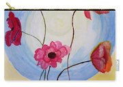Floral Orb Carry-all Pouch