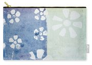 Floral Pattern On Old Grunge Paper Carry-all Pouch by Setsiri Silapasuwanchai