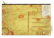 Floral Pattern On Old Postcard Carry-all Pouch