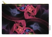 Floral Rose Edgy Abstract Carry-all Pouch