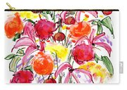 Floral Thirteen Carry-all Pouch