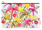 Floral Twelve Carry-all Pouch
