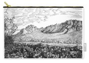 Florida Mountains And Poppies Carry-all Pouch by Jack Pumphrey