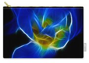 Flower - Coral Blue - Abstract Carry-all Pouch