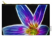 Flower - Electric Blue - Abstract Carry-all Pouch