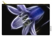 Flower - Ghostly Blue - Abstract Carry-all Pouch