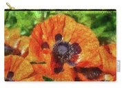 Flower - Poppy - Orange Poppies  Carry-all Pouch