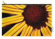Flower - Yellow And Brown - Abstract Carry-all Pouch