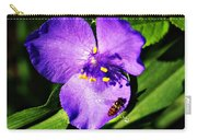 Flower And Bee Carry-all Pouch