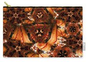 Flower Pattern In Sepia Carry-all Pouch
