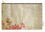 Flower Pattern On Old Paper Carry-all Pouch by Setsiri Silapasuwanchai
