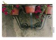 Flower Pots On Old Wall Carry-all Pouch