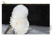 Flower With Snow Carry-all Pouch