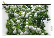 Flowering Snowball Shrub Carry-all Pouch