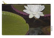 Victoria Amazonica White Flower Carry-all Pouch