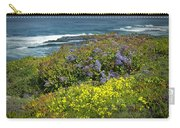 Flowers Along The Shore At La Jolla California No.0203 Carry-all Pouch