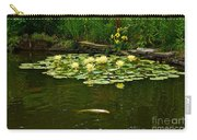 Flowers And Koi Carry-all Pouch