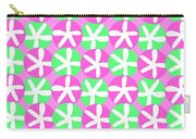 Flowers And Spots  Carry-all Pouch by Louisa Knight