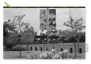 Flowers At Citi Field In Black And White Carry-all Pouch by Rob Hans