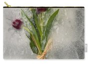 Flowers Frozen In Ice Carry-all Pouch