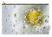 Flowers In Water Drops Carry-all Pouch