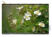 Flowers On The Fence Carry-all Pouch