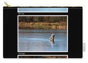 Fly Fishing Triptych Black Background Carry-all Pouch