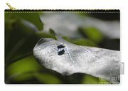 Fly On A Green Leaf Carry-all Pouch