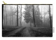 Foggy Lane By The Lake Carry-all Pouch