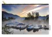 Foggy Port In Sunrise Carry-all Pouch