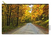 Follow The Yellow Leafed Road Painted Carry-all Pouch