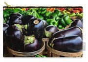 Food - Farm Fresh - Eggplant And Peppers Carry-all Pouch